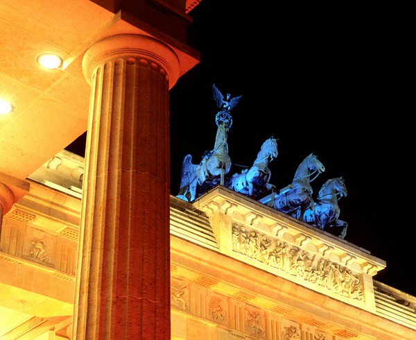 "Brandenburger Tor während des ""Festivals of Lights""."