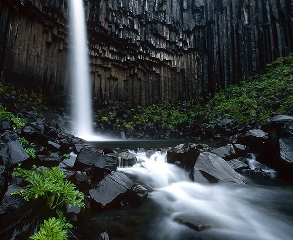 Im Reich der Basaltsäulen: der Svartifoss im Skaftafell-Nationalpark.