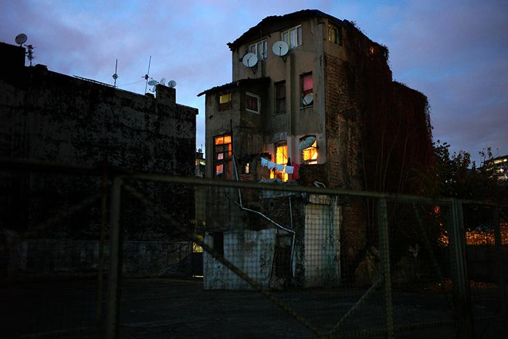 Dämmerung im Galata-Viertel.