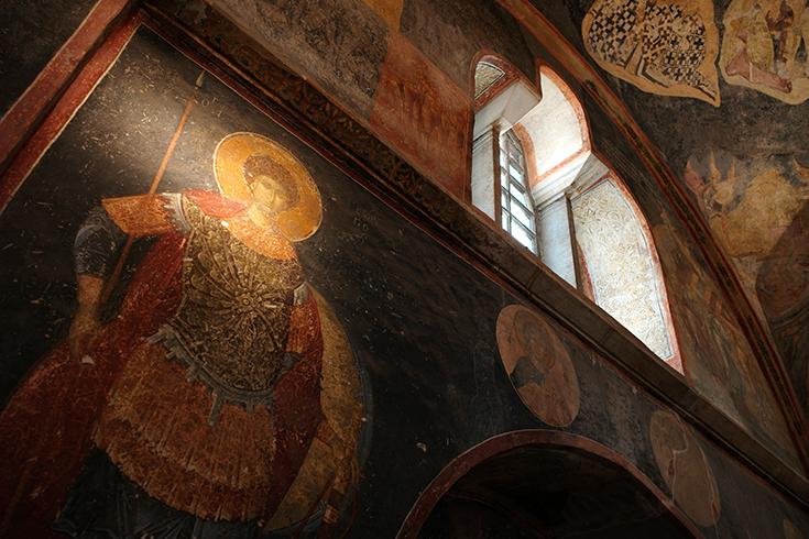 Byzantinisches Wandmosaik in der Chora-Kirche im Stadtteil Fatih.