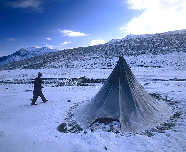 Ladakh, Nimaling-Plateau, 5:30 Uhr, 5.200 m ü. NN, -10°C.