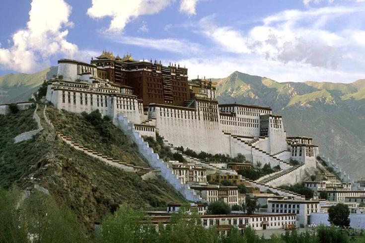 Der Potala-Palast in Lhasa, Tibet.