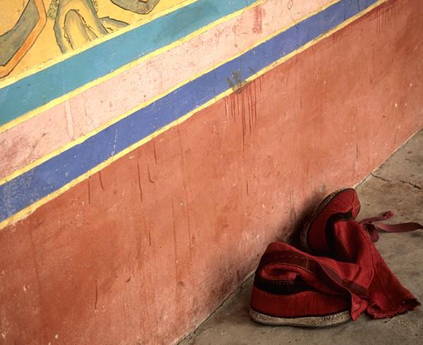Traditionelles Schuhwerk der Mönche von Tashilunpo.