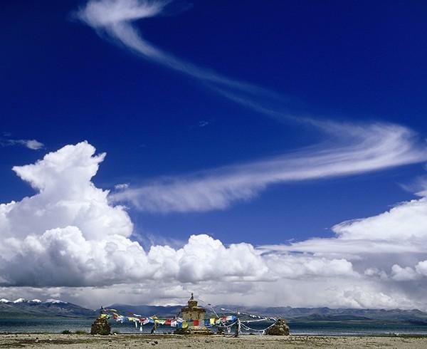 Der Manasarowar-See bei Chiu-Gompa, Tibet.