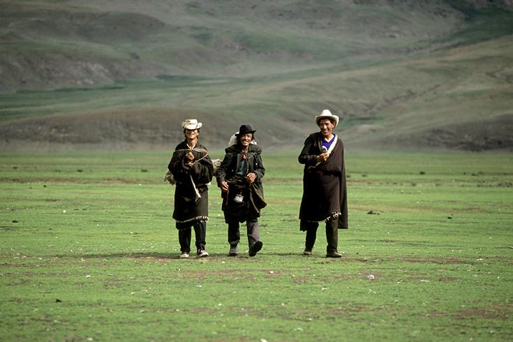 Nomaden bei Dargyeling, Tibet.