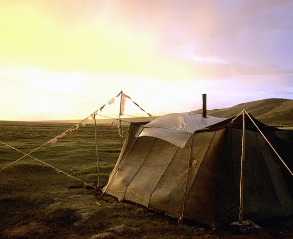 Nomadenzelt bei Baryang, Tibet.