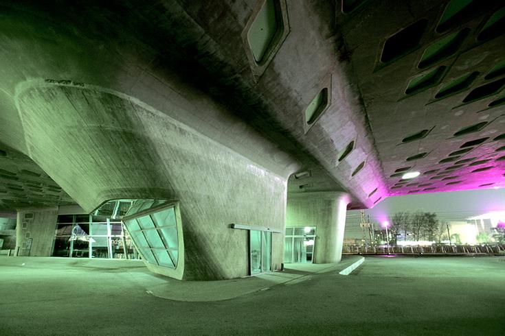 """Die """"Conehall"""" des Phaeno Science Centers in Wolfsburg."""