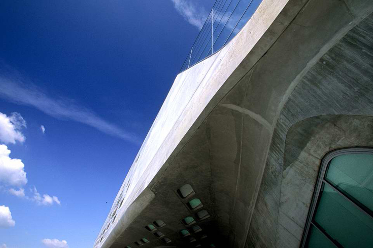 Phaeno Science Center, Fassadendetail.