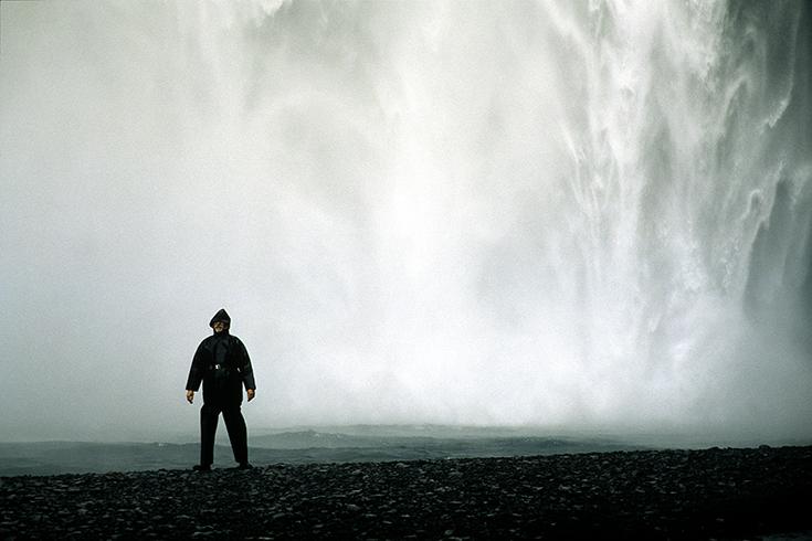 Wasserdicht am Skógafoss.